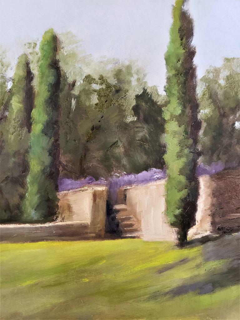 Lavendar Gardens Behind Ancient Walls, Provence