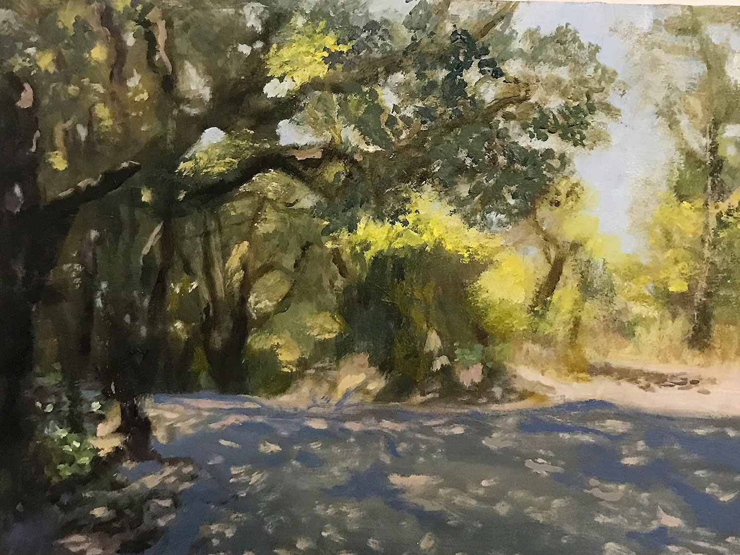 Lower Road to Vineyard, Provence, France (SOLD)